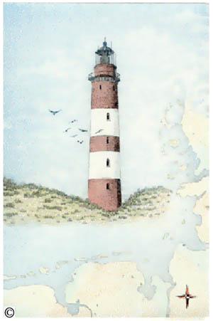 L12  Leuchtturm Amrum  Hauck Grafik Art