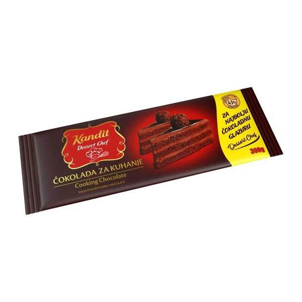 Čokolada za kuhanje Dessert Chef 300g, Kandit