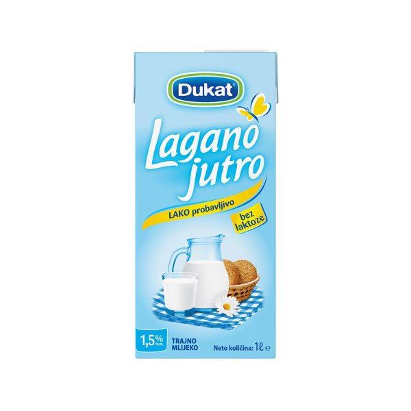 Mlijeko trajno Lagano jutro 1L, Dukat