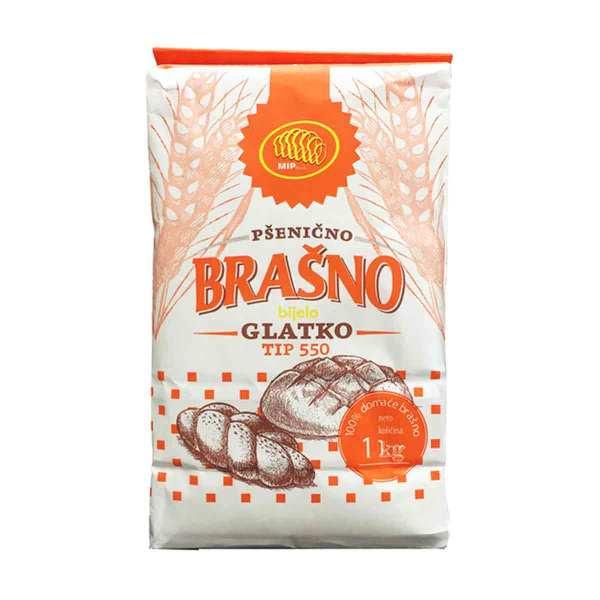 Pšenično brašno glatko tip 550 1 kg, Mlin i pekare