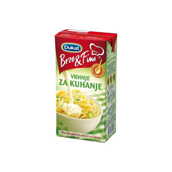 Vrhnje za kuhanje Brzo&Fino 500g, Dukat