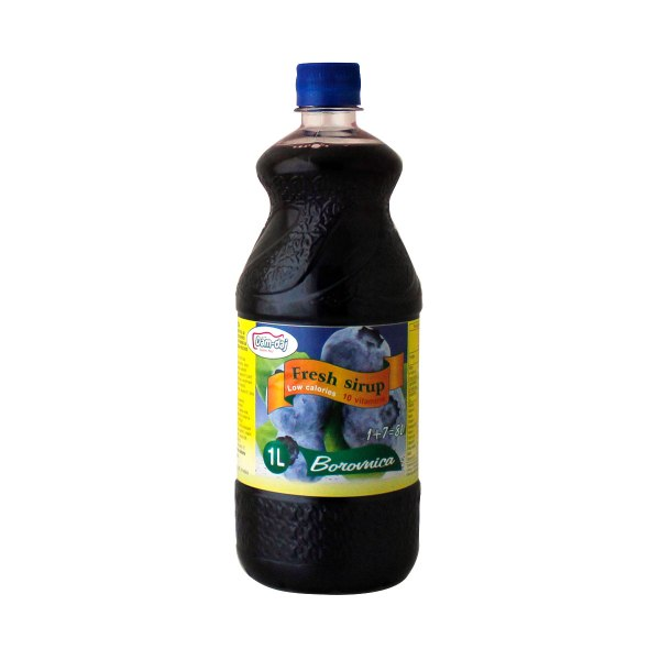 Fresh sirup borovnica 1L