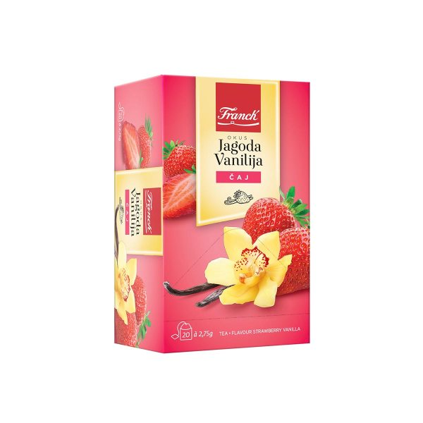 Čaj jagoda-vanilija 55g, Franck