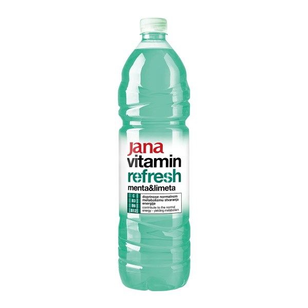 Jana vitamin refresh menta&limeta 1,5L, Jamnica plus