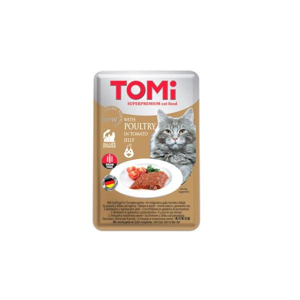 Tomi Vrećica za mačke Grain Free, perad/rajčica 100g