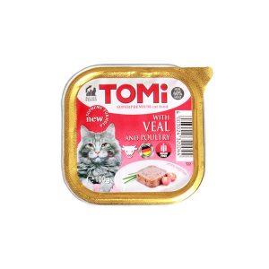 Tomi pašteta za mačke teletina/perad 100g