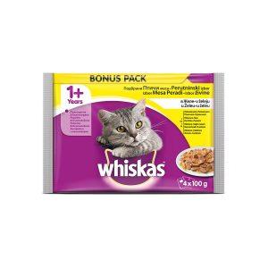 Whiskas 1+ mix perad u želeu 4x100g