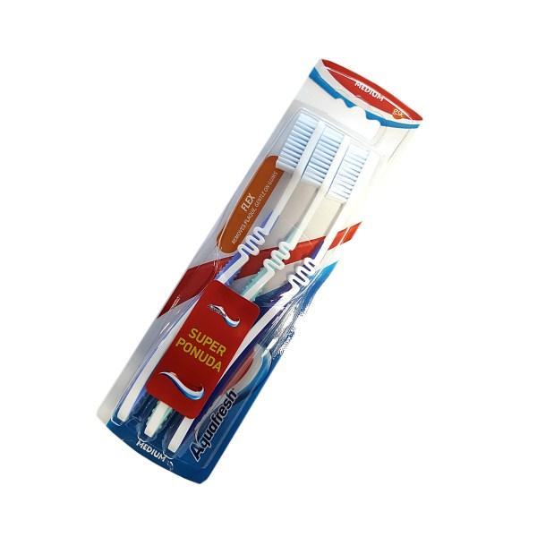 Aquafresh Flex Medium četkice za zube 3/1