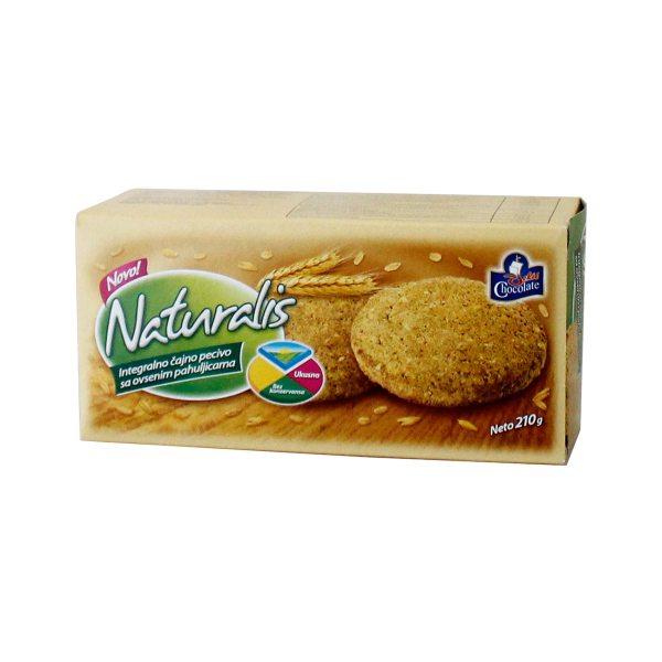 Naturalis integralno čajno pecivo sa zobenim pahuljicama 210g