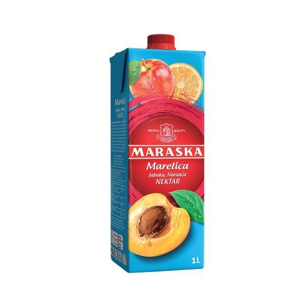 Sok marelica, jabuka i naranča nektar 1L, Maraska