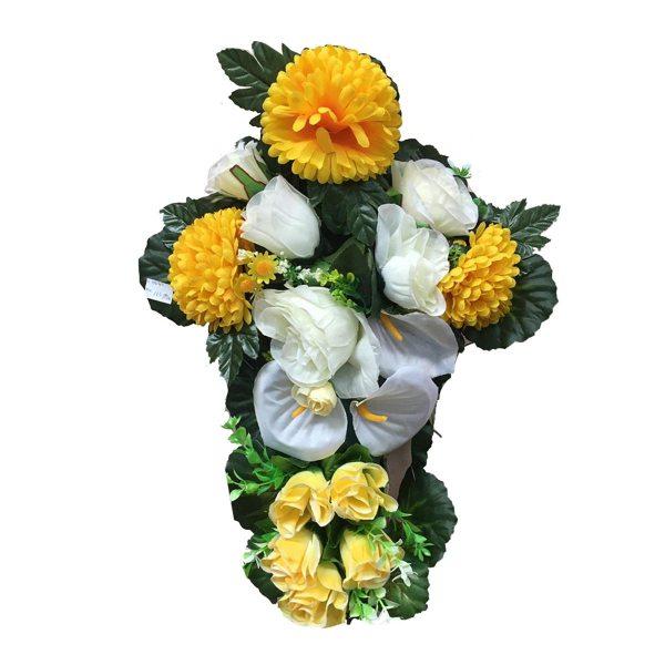 """Aranžman umjetnog cvijeća """"Križ"""""""