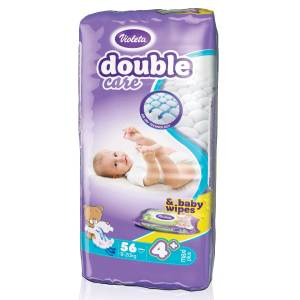 Violeta Double Care Pelene, vel.4+ (Maxi+) 9-20kg 56/1