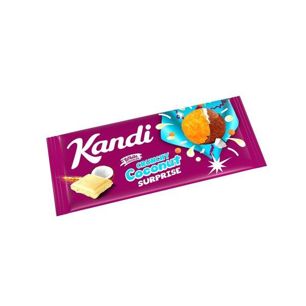 Bijela čokolada s kokosom i krispijem 80g, Kandit