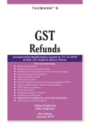 Buy GST Refunds book by Taxmann's at 10% Discount