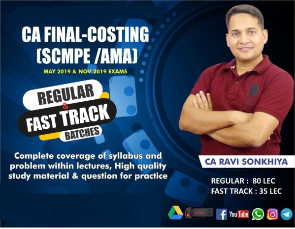 CA Final SCM & PE New Course Video Lectures by CA Ravi Sonkhiya