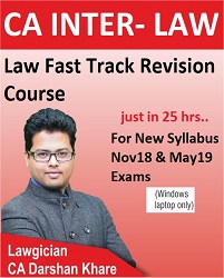 CA Inter Law Fast Track Revision Video Lectures by CA Darshan Khare