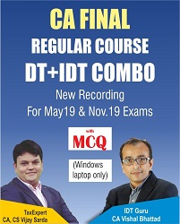 CA Final DT + IDT Combo Video Lectures By CA Vishal Bhattad & CA Vijay Sarda