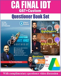 CA FINAL IDT QUESTIONER BOOK SET BY CA VISHAL BHATTAD