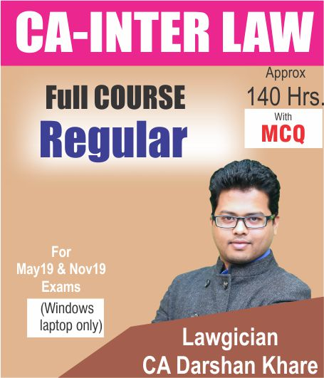 CA Inter Law Video Lectures by CA Darshan Khare
