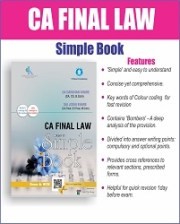 CA FINAL LAW SIMPLE BOOK BY CA DARSHAN KHARE