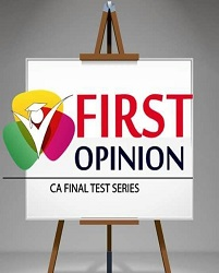 CA FINAL - Indirect Tax Old Syllabus Test Series by First Opinion