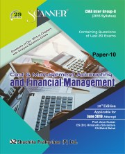 CMA Inter Scanner Group - II (2016 Syllabus) Paper-10 Cost & Management Account & Financial Management Regular Edition