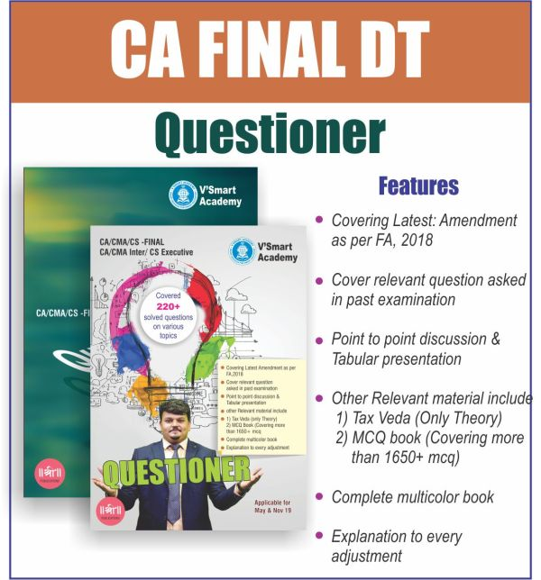 CA FINAL DT QUESTIONER BOOK SET BY CA VIJAY SARDA