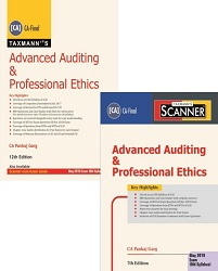 CA Final Combo Advanced Auditing and Professional Ethics Main Book & Scanner Old Syllabus By Pankaj Garg