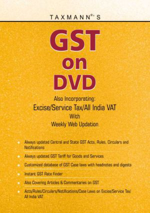 Buy or Renew Taxmann's GST on DVD - A Complete Database on Goods & Services Tax