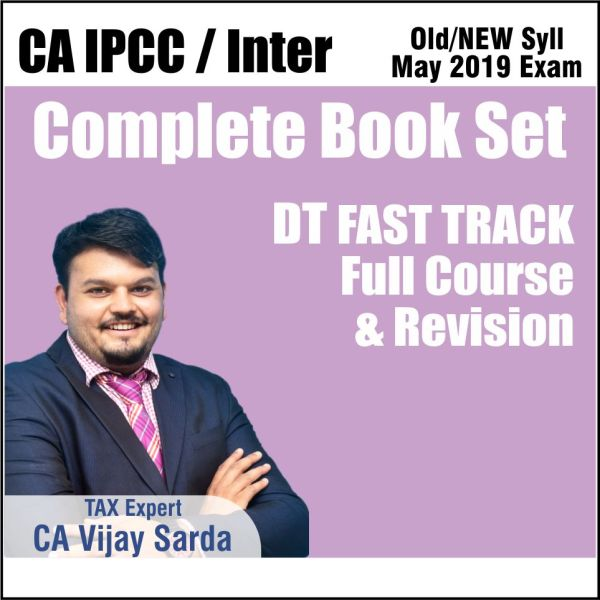 CA INTER DT FAST TRACK REVISION COMPLETE BOOK SET BY CA VIJAY SARDA