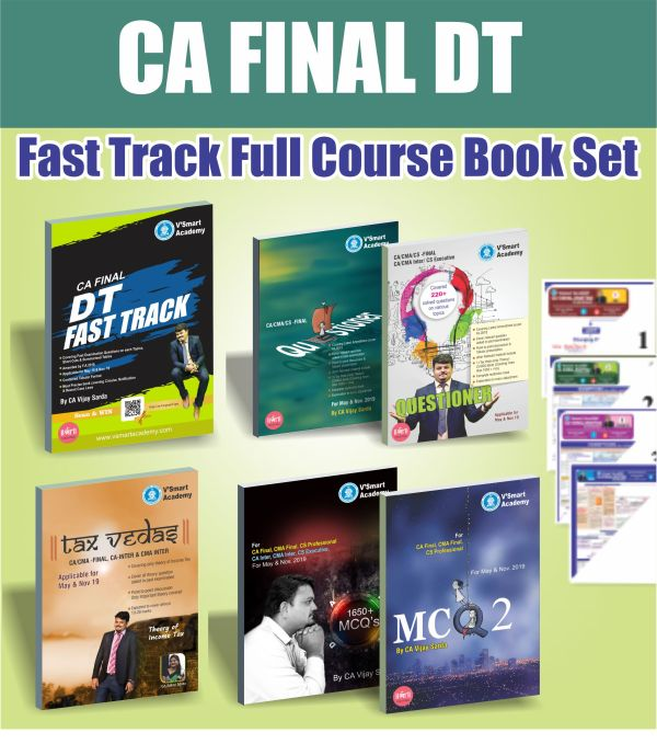 CA FINAL DT FAST TRACK COMPLETE BOOK SET BY CA VIJAY SARDA