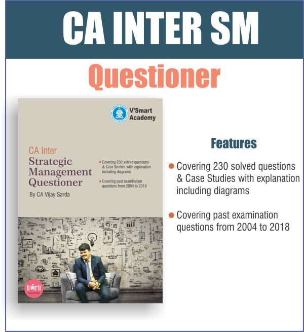 CA INTER STRATEGIC MANAGEMENT SM QUESTIONER BOOK BY CA VIJAY SARDA