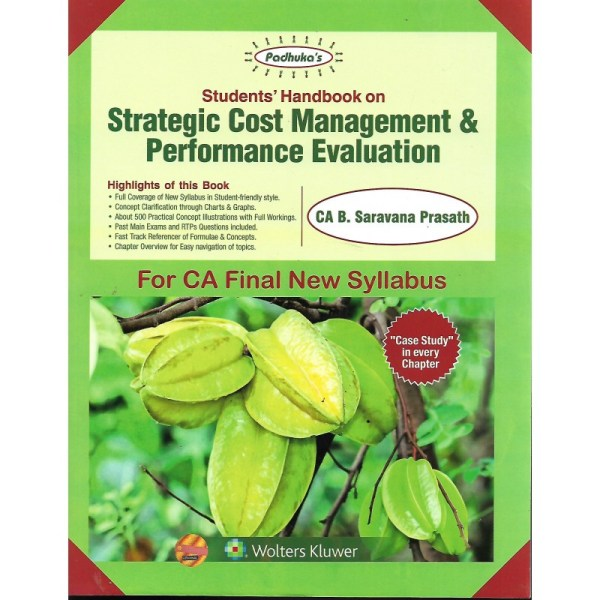 STRATEGIC COST MANAGEMENT & PERFORMANCE EVALUATION BY CA B.SARAVANA PRASATH (NEW SYLLABUS) CA-FINAL