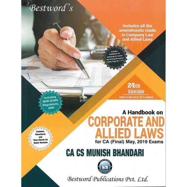 CA FINAL HANDBOOK ON CORPORATE AND ALLIED LAWS BY MUNISH BHANDARI (OLD SYLLABUS)