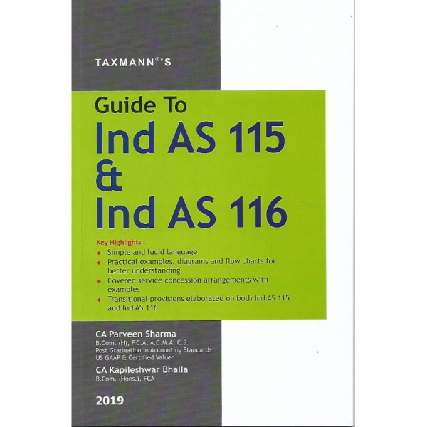 GUIDE TO IND AS 115 & IND AS 116 BY PARVEEN SHARMA & KAPILESHWAR BHALLA