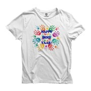 Double F Round Neck Half Sleeve Happy Holi 19 Printed T-Shirts