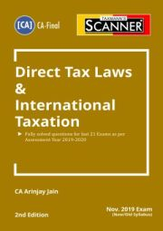 CA Final Scanner on Direct Tax Laws & International Taxation By Arinjay Jain
