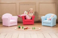 Kids Fabric Armchair Sofa Seat Stool Childrens Tub Chair ...