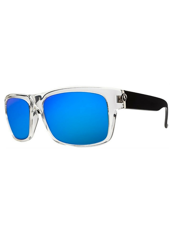 Electric Back Line Sunglasses Black Crystal- Melanin Grey Blu
