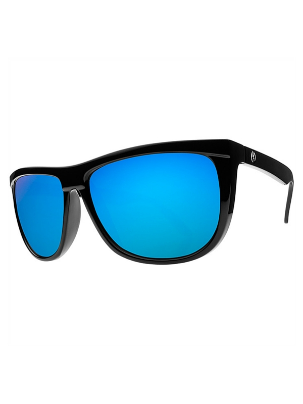 Electric Tonette Sunglasses Gloss Black- Grey Blue Chrome