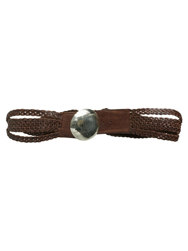 RIO LEATHER BRAIDED BELT