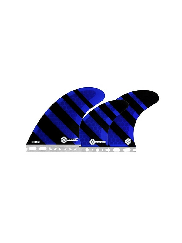 SHAPERS FINS FUTURE CORE LITE S3 BLUE ZEBRA 5 FIN SET
