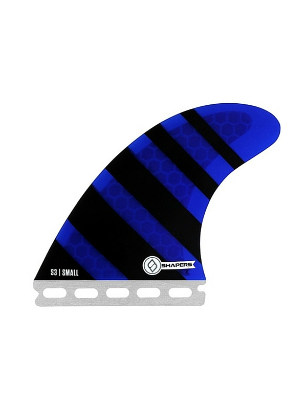 SHAPERS FINS FUTURE CORE LITE S3 BLUE ZEBRA THRUSTER FINS