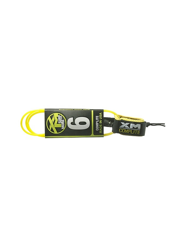 XM COMP LIGHT DOUBLE SWIVEL 6' YELLOW SURF LEASH