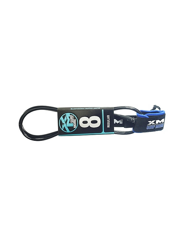 XM DOUBLE SWIVEL 8' BLACK SURF LEASH