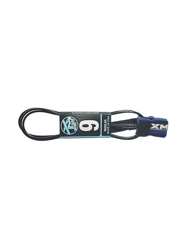XM DOUBLE SWIVEL 9' BLACK SURF LEASH