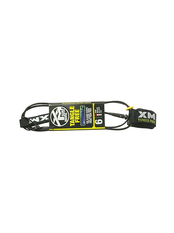 XM TANGLE FREE DOUBLE SWIVEL COMPLITE 6' BLACK SURF LEASH