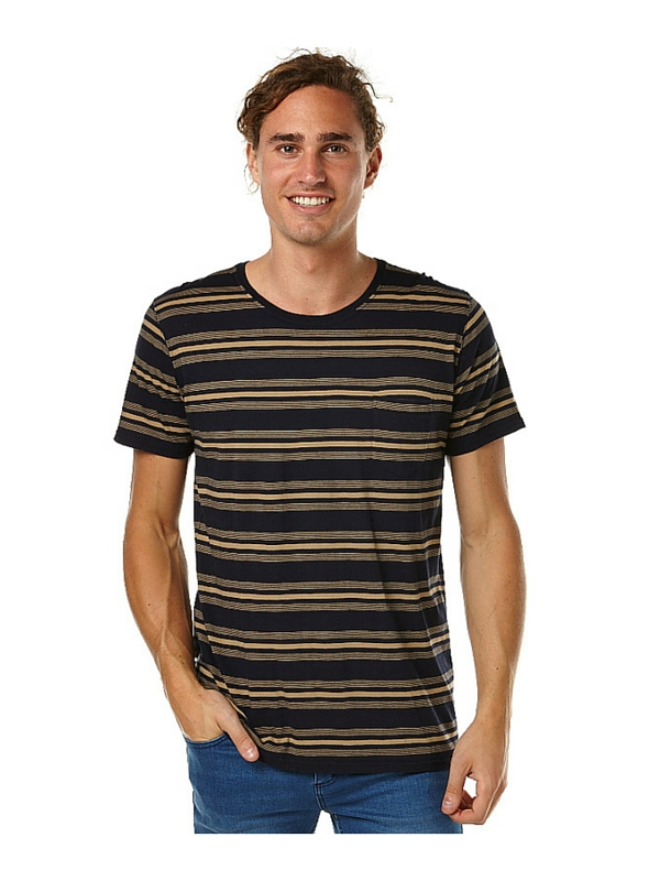 BANKS PRIMER MENS TEE SHIRT - DIRTY DENIM