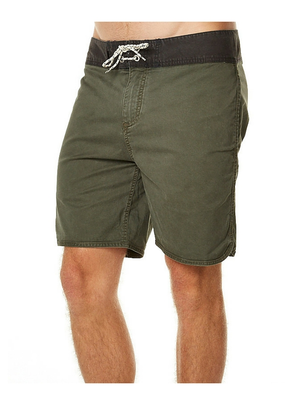 QUIKSILVER STREET TRUNK SCALLOP MENS BOARDSHORT - FOREST NIGHT
