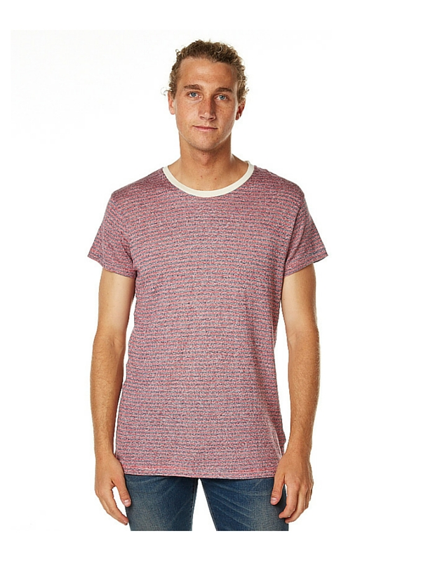 ROLLAS COAST STRIPE MENS TEE